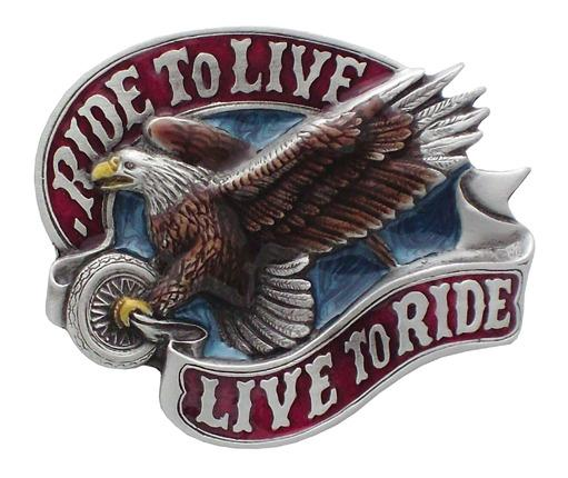 Ride to Live - Live to Ride Metal Belt Buckle