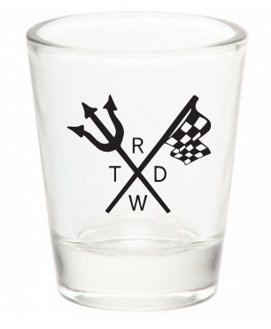 Race With The Devil Shot Glass