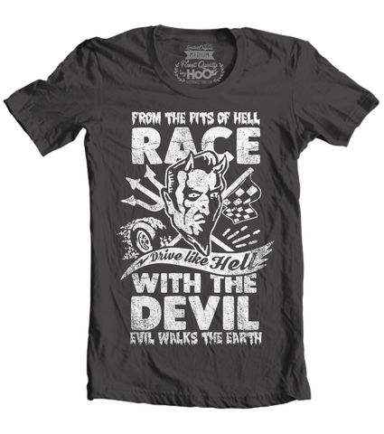 "Men's Race With The Devil ""Vince Ray Scratch Devil"" T-Shirt"