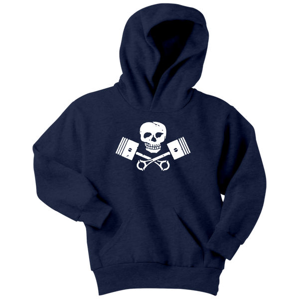Youth High on Octane® Skull and Pistons Hoodie