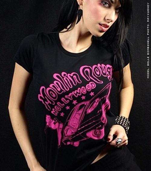 Women's HoO High on Octane Moulin Rouge Hollywood Cuda T-Shirt