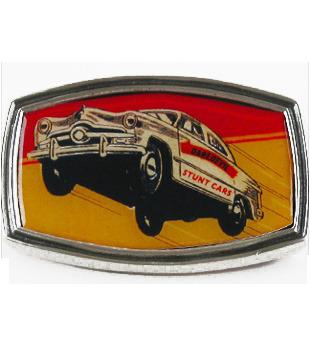 Dare Devil Stunt Cars Metal Belt Buckle