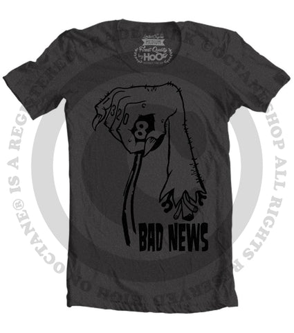 Men's HoO High On Octane Bad News T-Shirt (Black)
