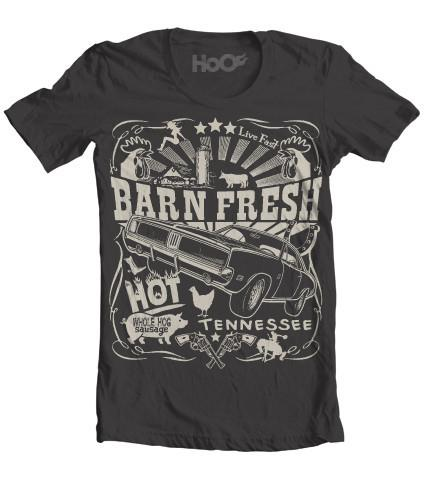 Women's HoO High on Octane Barn Fresh Dodge Charger T-Shirt (Color Options)