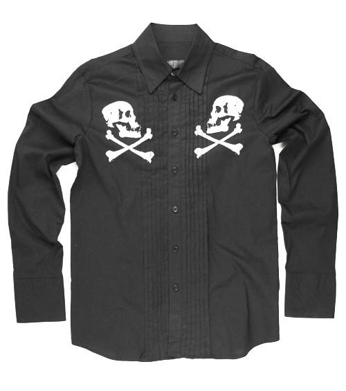 Men's Lip Service Southern Gothic Skull Shirt