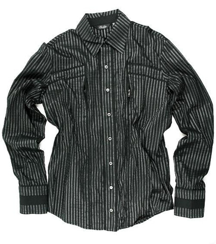 Men's Lip Service Southern Gothic Silver Stripe Gothic Shirt