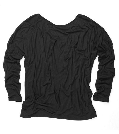 Women's Oversized Open Keyhole Top