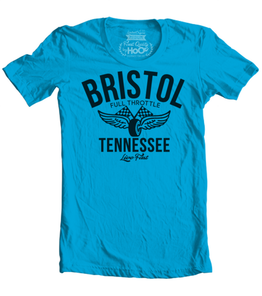 Unisex HoO High on Octane Bristol Vintage Racing T-Shirt (Color Options)