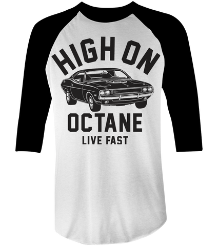 Men's High on Octane® Big Block Challenger Muscle Car© Raglan