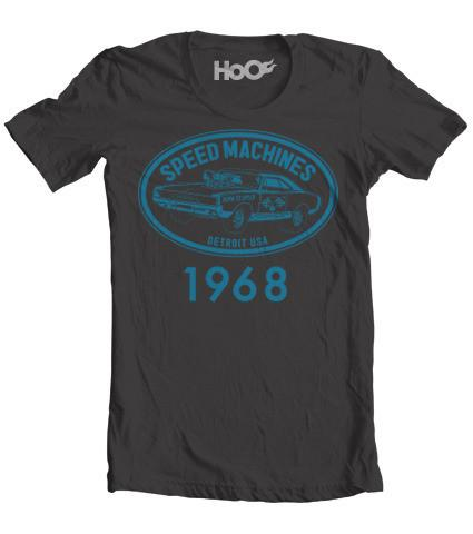 Kid's Speed Machine Charger Muscle Car Vintage Heather T-Shirt