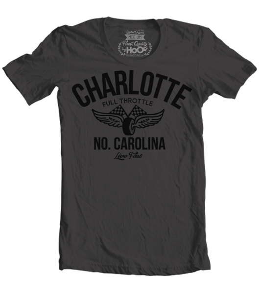 Unisex HoO High on Octane Charlotte Vintage Racing T-Shirt (Color Options)