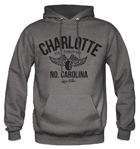 Men's High on Octane® Charlotte Vintage Racing© Pull Over Hoody