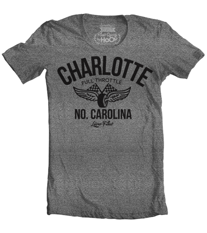 Men's HoO Charlotte Vintage Racing T-Shirt (Color Options)