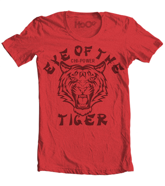 Men's HoO High on Octane Eye of the Tiger Chi-Power Gym Workout T-Shirt (Color Options)