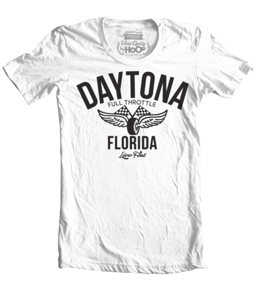 Unisex HoO High on Octane Daytona Vintage Racing T-Shirt (Color Options)