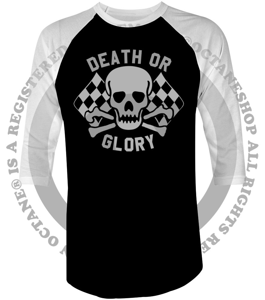 Men's High on Octane® Death or Glory© Old School Vintage Racing Raglan