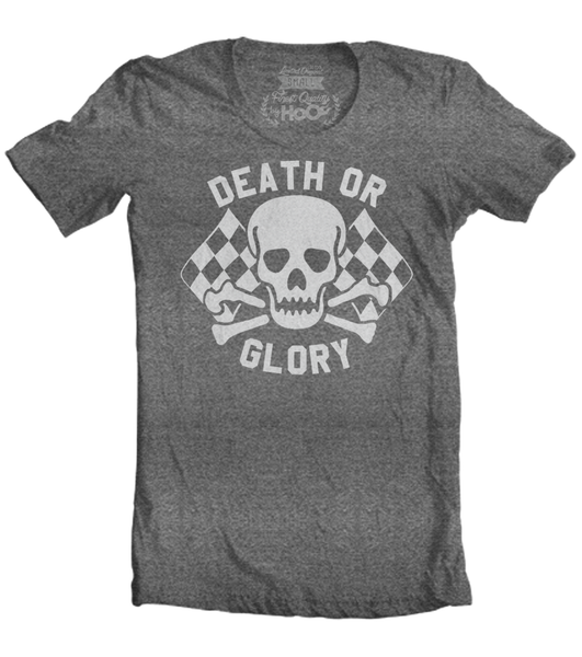 Women's HoO High on Octane Death or Glory Skull T-Shirt (Color Options)