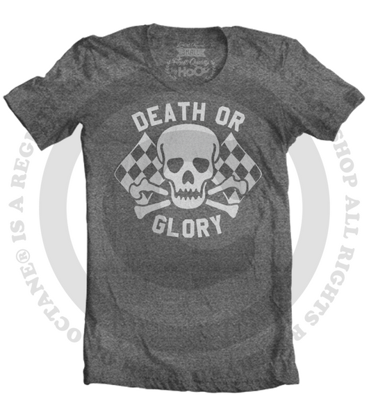 Men's High on Octane® Death or Glory HoO Skull© T-Shirt (Color Options)