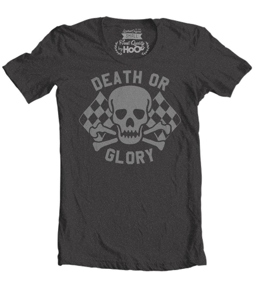 Women's High on Octane™ Death or Glory HoO Skull© T-Shirt (Color Options)
