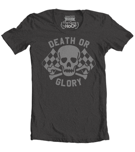 Men's HoO High on Octane Death or Glory Skull T-Shirt (Color Options)