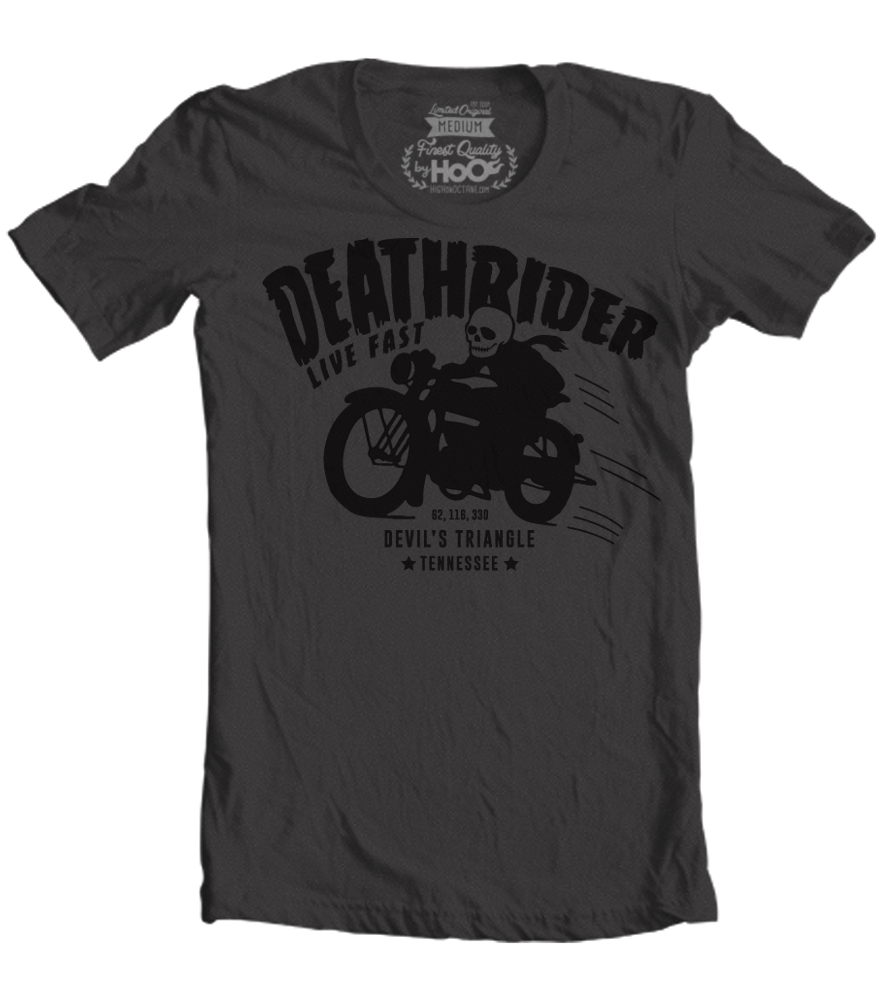 Women's HoO High on Octane Deathrider Devil's Triangle T-Shirt (Black)