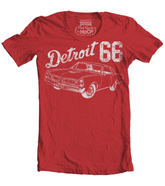 Men's HoO High on Octane Detroit 66 GTO Muscle Car T-Shirt (Color Options)
