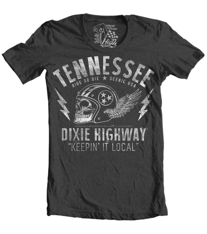 Unisex High on Octane® Tennessee Ride or Die Dixie Highway T-Shirt