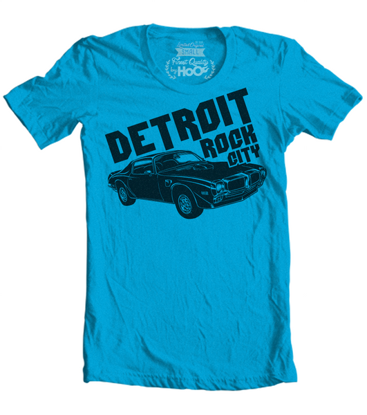 Women's HoO High on Octane Detroit Rock City Trans Am Muscle Car T-Shirt (Color Options)