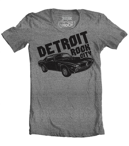 Men's HoO High on Octane Detroit Rock City Trans Am Muscle Car T-Shirt (Color Options)