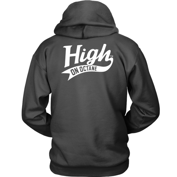 Unisex High on Octane® Stock Car Races Pullover Hoodie Sweatshirt