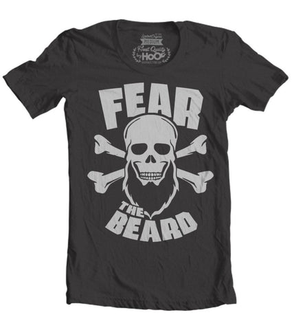 Men's High on Octane® Fear The Beard© Skull T-Shirt (Color Options)