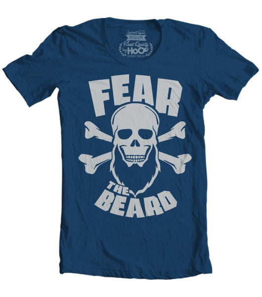 Men's HoO High on Octane Fear The Beard Skull T-Shirt (Color Options)