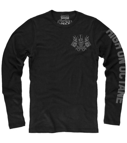 Men's HoO© High On Octane® Flaming Skull and Pistons Racing Thermal (Color Options)