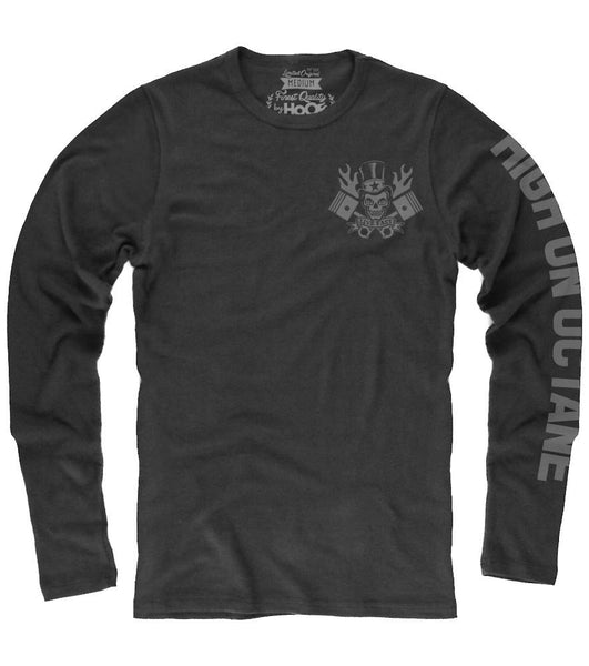 Men's HoO Flaming Skull and Pistons Racing Thermal (Color Options)