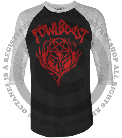 "Men's Race With The Devil ""Fowl Beast"" Raglan"