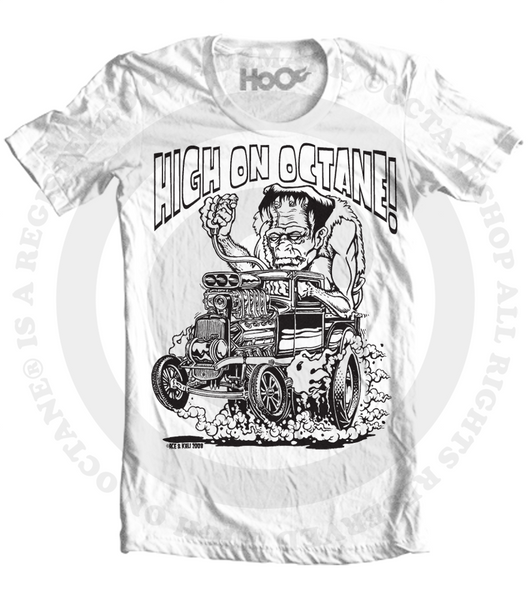 Men's HoO High on Octane Frankenstein Rat Rod Graphic T-Shirt