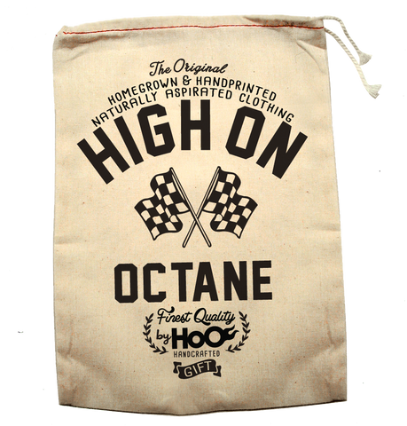 HoO High on Octane Handprinted  GIFT BAG