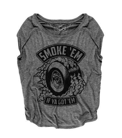Women's HoO High on Octane Smoke 'Em Loose Fit Short Sleeve Top