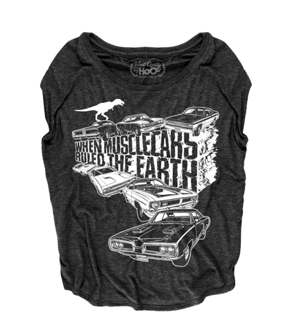 Women's HoO High on Octane When Muscle Cars Ruled The Earth Loose Fit Short Sleeve Top