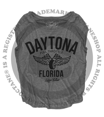 Women's HoO High on Octane Daytona Vintage Racing Loose Fit Short Sleeve Top