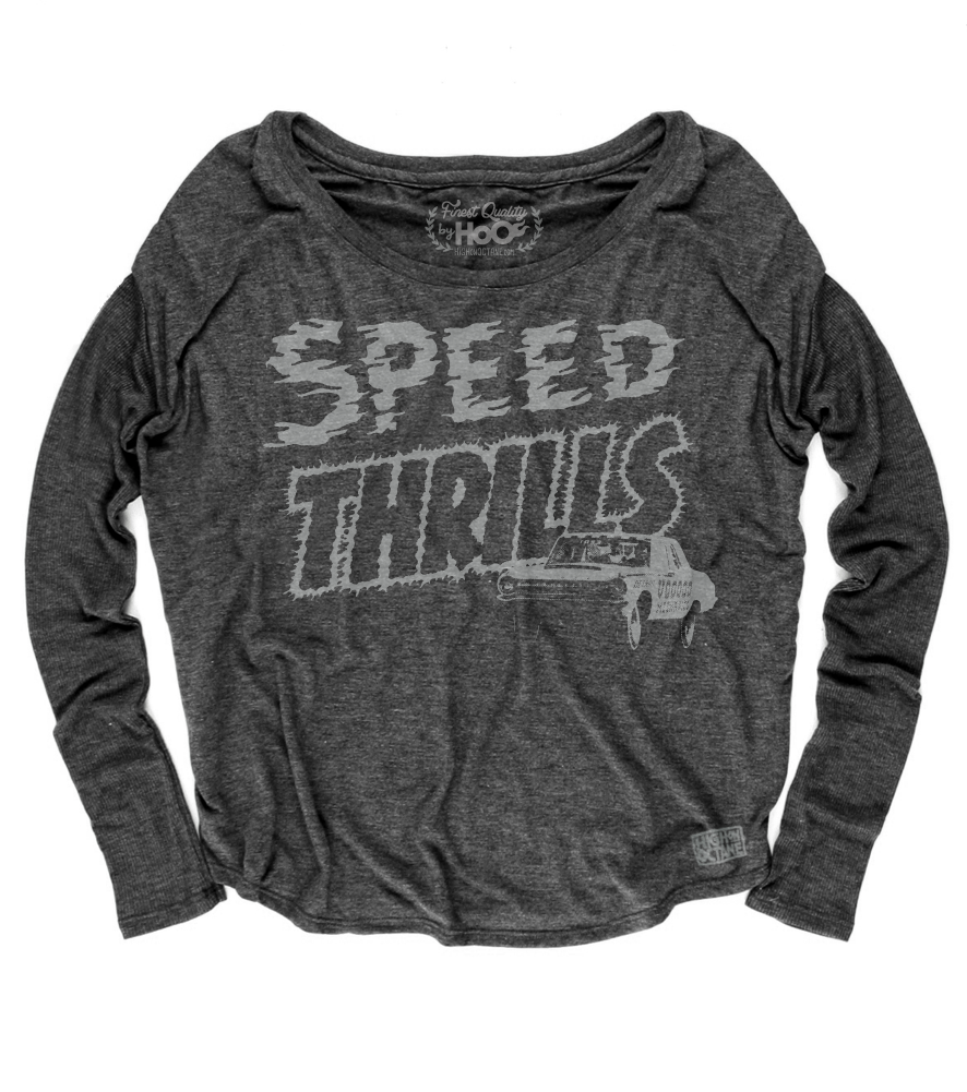 Women's HoO High on Octane Speed Thrills Racing Loose Fit Long Sleeve Top