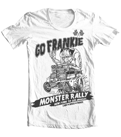Kid's High on Octane® Go Frankie Rat Rod Monster© Vintage T-Shirt