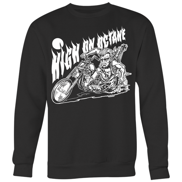 Unisex High on Octane® Wolfie Chopper Old School Sweatshirt