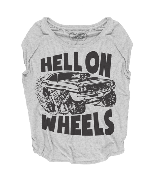 Women's HoO High on Octane Hell on Wheels Loose Fit Short Sleeve Top