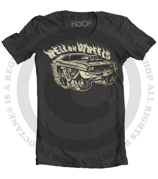Men's HoO High on Octane Hell on Wheels Muscle Car T-Shirt