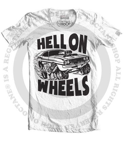 Men's HoO High on Octane Hell on Wheels Big Print T-Shirt (Color Options)