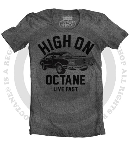 Women's HoO High on Octane Olds 4-4-2 Big Block Muscle Car Gym Workout T-Shirt