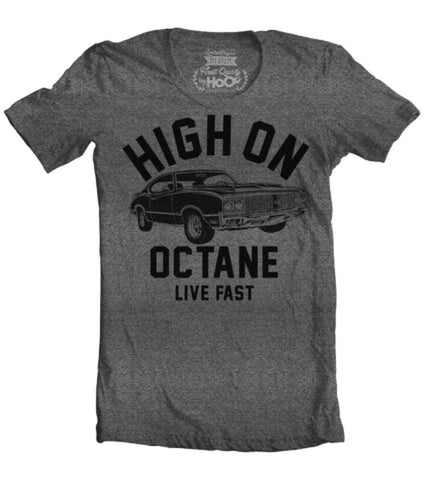 Men's HoO High on Octane Olds 4-4-2 Big Block Muscle Car Gym Workout T-Shirt