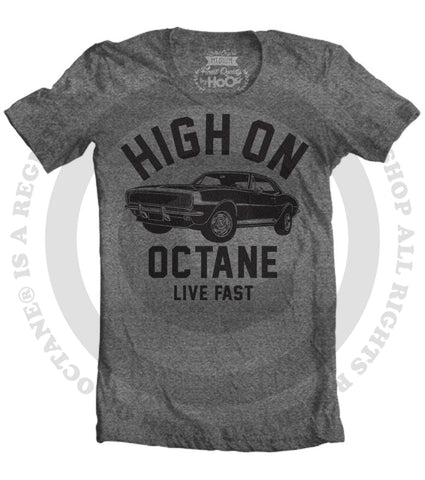 Women's HoO High on Octane Camaro Big Block Muscle Car Gym Workout T-Shirt