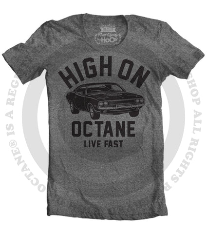 Women's HoO High on Octane Challenger Big Block Muscle Car Gym Workout T-Shirt